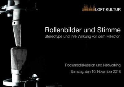 """Veranstaltung: """"Rollenbilder und Stimme – Stereotype und Vorurteile vor dem Mikrofon"""""""